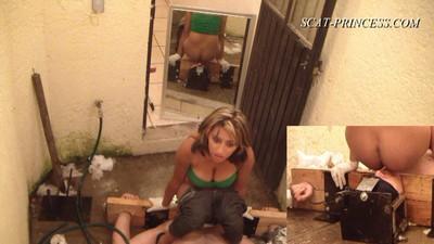 Cruel Shitting Session In Patio Part  9 Nataly