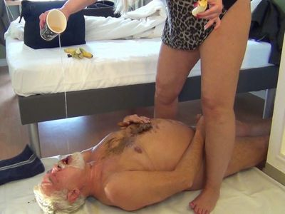 Fat Shit Sausage Shitting In The Senior Slave Mouth! Part  3
