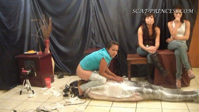 The Feeding And Filling Of A Toilet Slave Part  8 Sofia