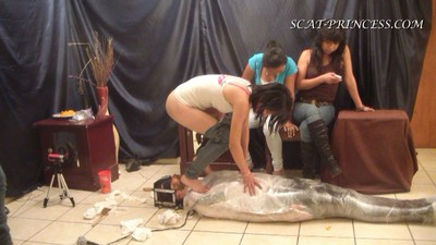 The Feeding And Filling Of A Toilet Slave Part  6 Valery