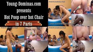 Hot Poop Over Hot Chair Part  2 HD