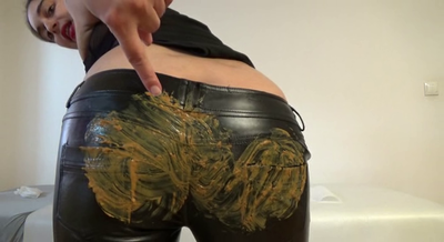 Mistress Roberta - Ecological Leather Pants With Shitty Ass-Pov