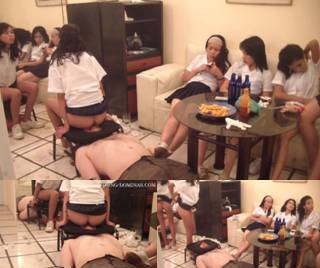 6 Students Fill Up Their Toilet Slave Part  5
