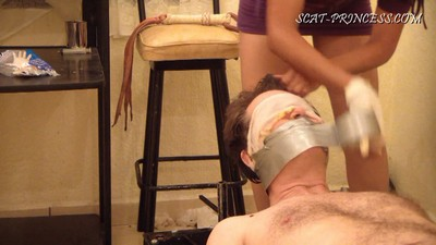 Toilet Slave And The Duct Tape Trick Part  4